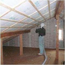 セルローズファイバー:天井施工