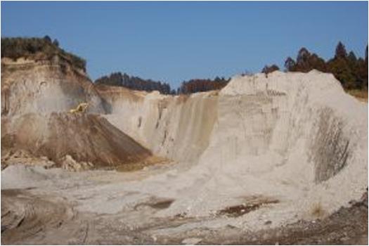 エコ素材の写真:火山噴出物白洲